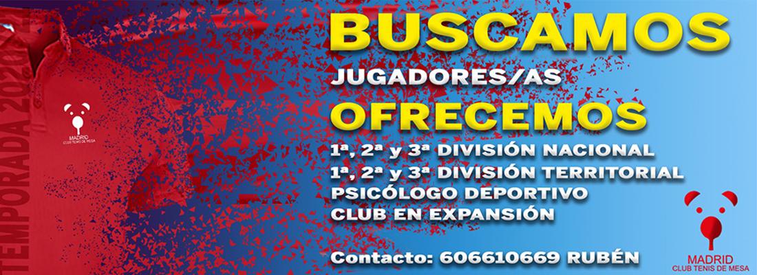 Buscamos jugadoras/es para temporada 2020/21